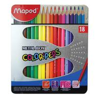 Maped Color Peps Colour Pencil (Metal Box, 18 Shades)