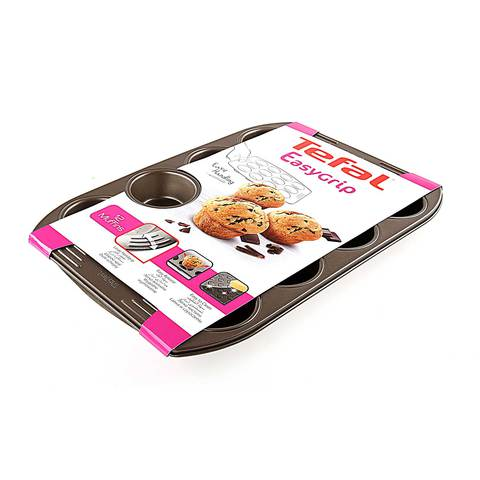 TEFAL EASY GRIP GOLD MUFFINX12