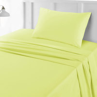 Tendance's Fitted Sheet Single Mustard 99X193
