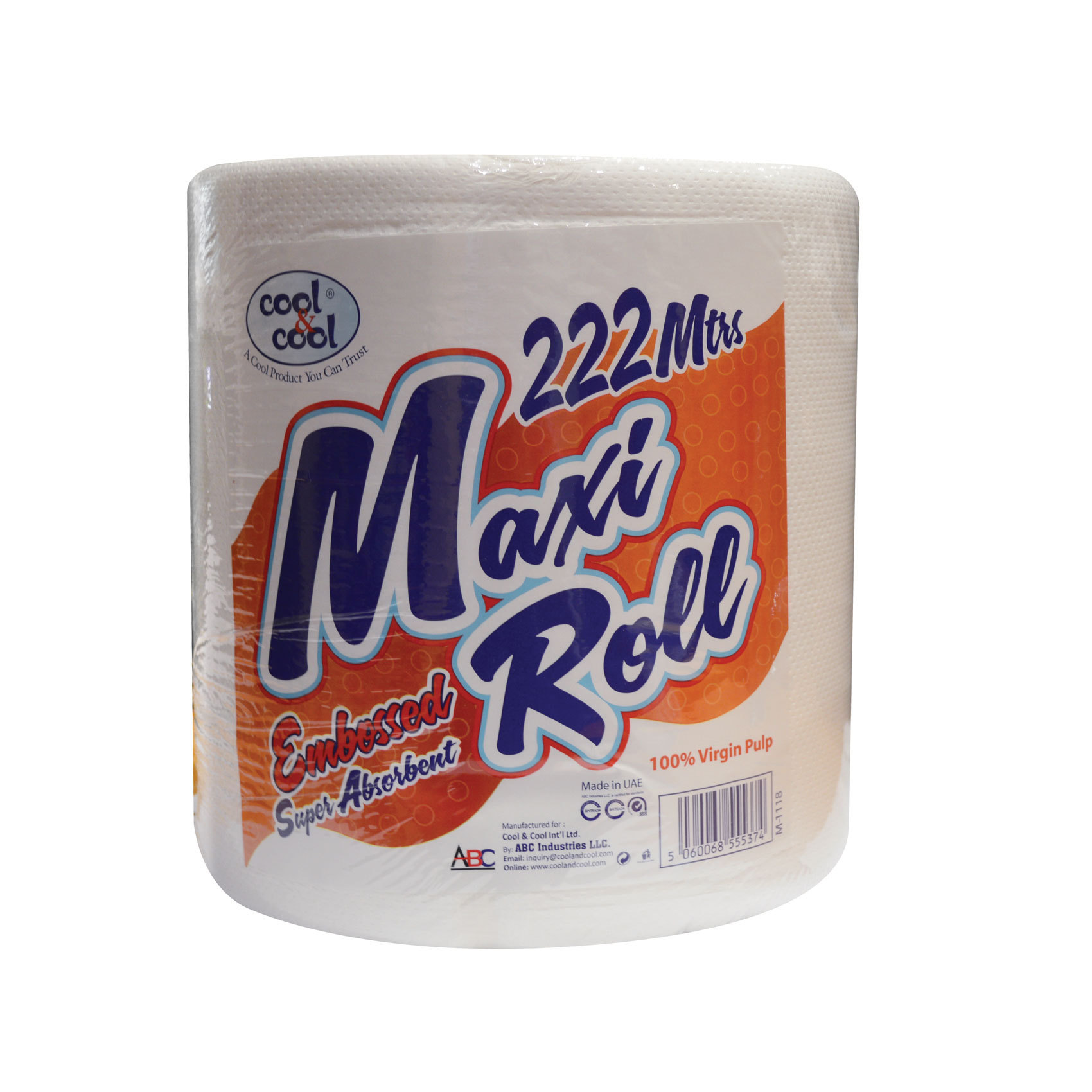 C&C MAXI ROLL 222MTRS WHITE