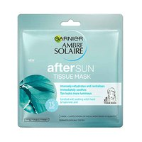 AMBRE SOLAIRE AFTER SUN TISSUE MASK WITH SOOTHING WITCH HAZEL AND HYALURONIC ACID