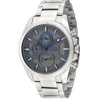 Slazenger Men's Multifunction Display Grey Dial Silver Stainless Steel Bracelet - SL.9.6030.2.02