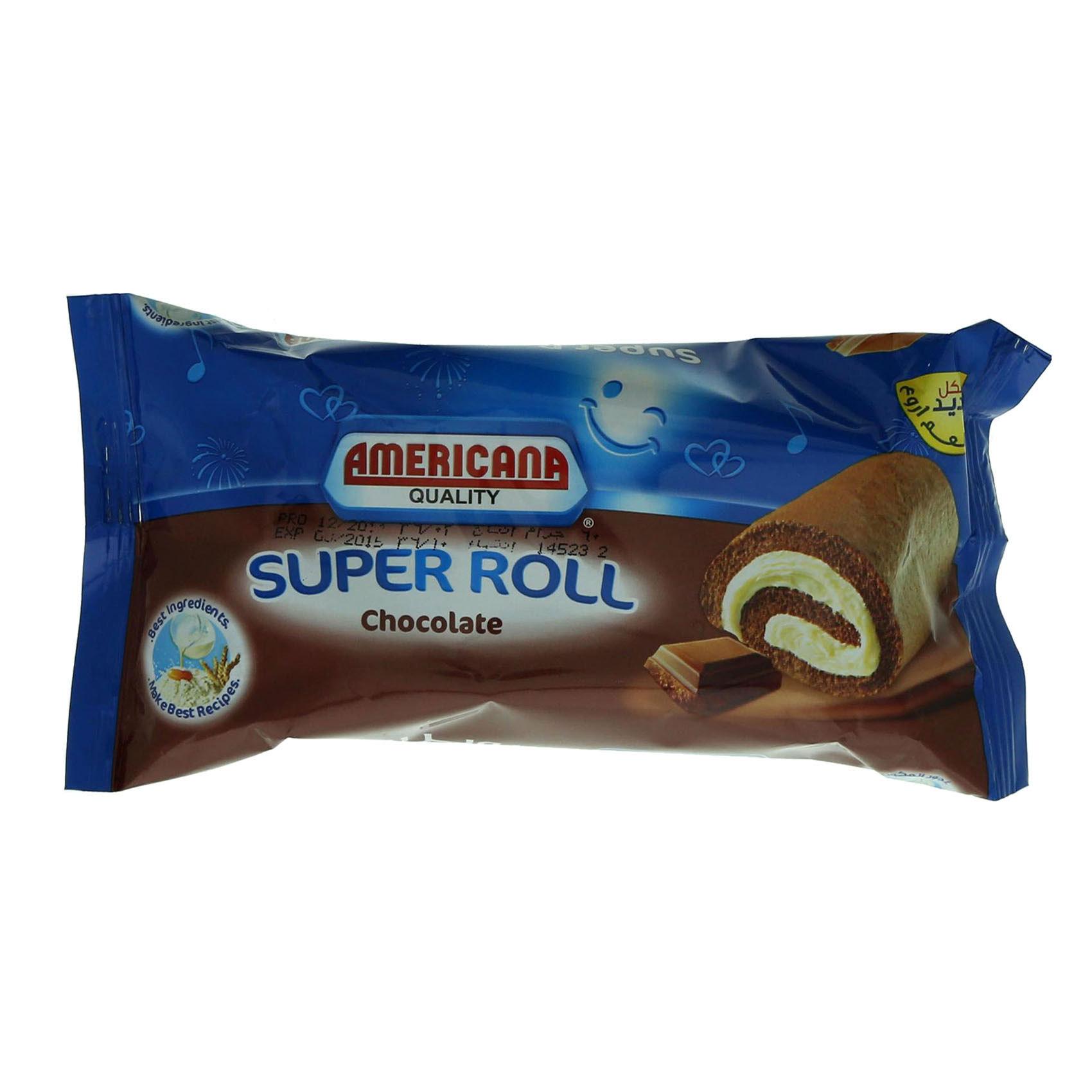 AMERICANA SUPER ROLL CHOCO 60G