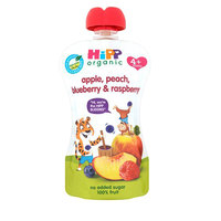 Hipp Organic Peach, Apple, Blueberry Raspberry Pouch 100g