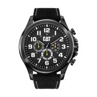 CAT Men's Watch Operator Multi Analog Black Dial Black Fabric / Rubber Band 48mm  Case