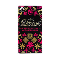 Divine 70% Dark Chocolate With Raspberries 100GR