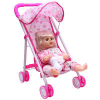 Doll With Stroller 16'' Boy & Girl
