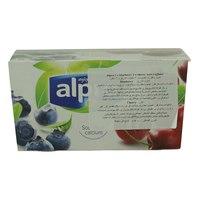Alpro blueberry x 2 Cherry x 2 Soya Yoghurt 125gx4