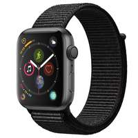 Apple Watch Series-4 GPS 40mm Space Grey Aluminium Case with Black Sport Loop (MU672AE/A)