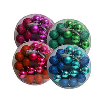 Christmas Tree Balls Red Assorted Set Of 32 8CM