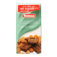 Torras Sugar Free Milk & Almonds Chocolate 75g