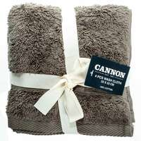 Cannon Face Towel 4pc set Walnut 33X33cm