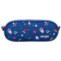 Delsey School 2018 2-Cpt Pencil Case Navy Galaxy