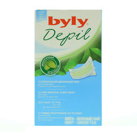 Byly Depil Large Mint- Green Tea Hair Removal 12 Strips
