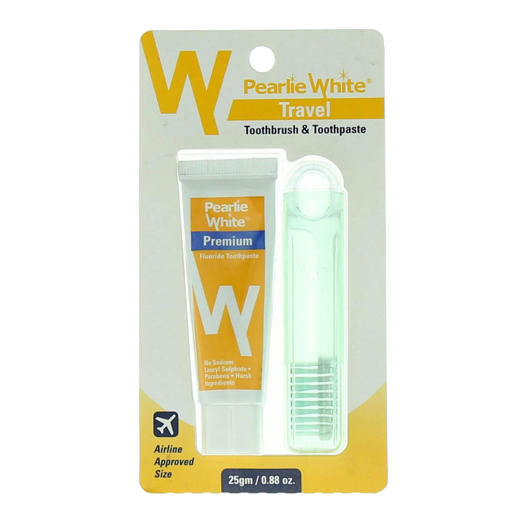 PEARLIE WHITE TRAVEL BRUSH/PASTE25G