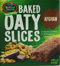 Mother Earth Baked Oaty Slices Bar Afghan 240g