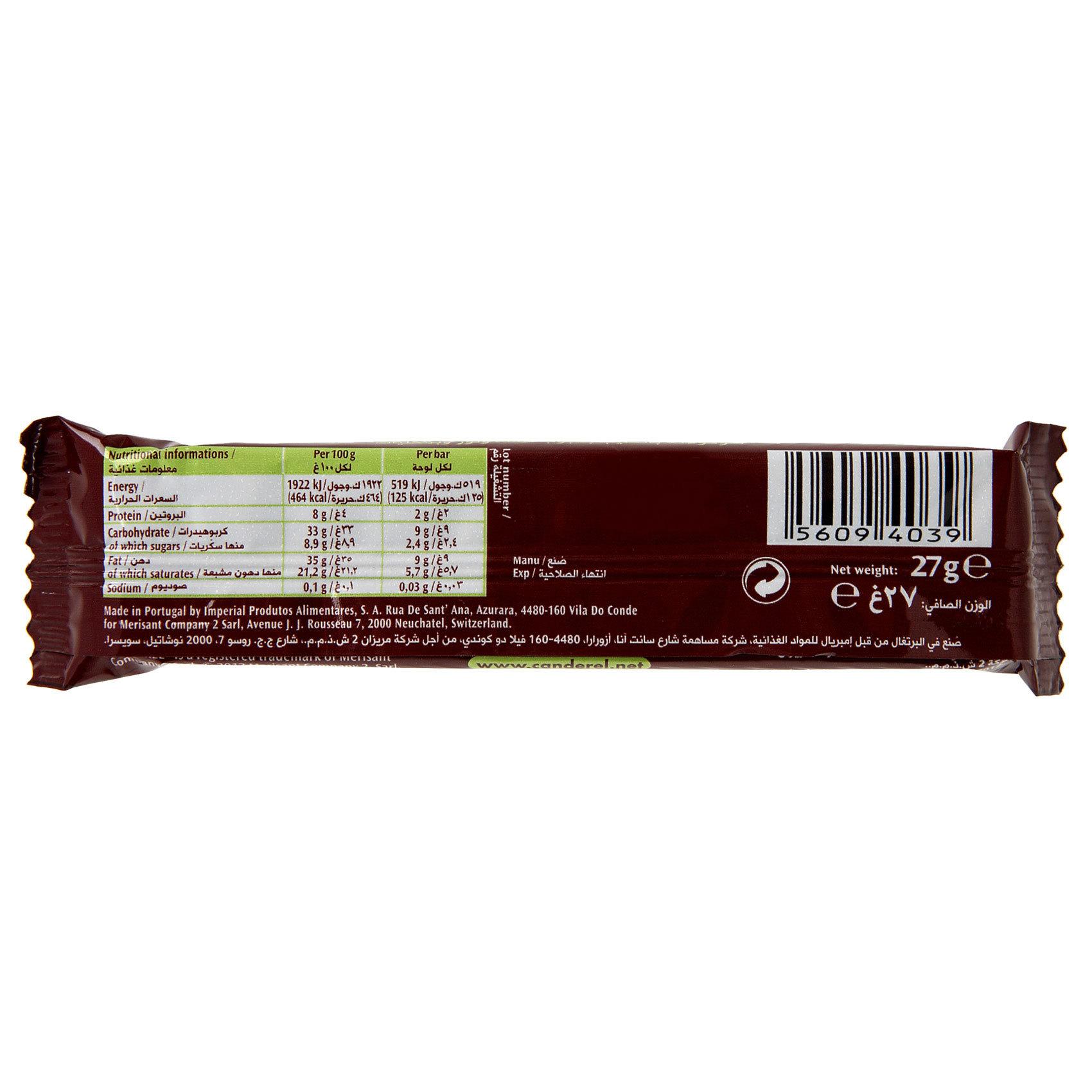 CANDEREL CHOCOLATE RICE ALMOND 27GR
