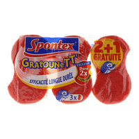 Spontex Gratounett 3 Scratchy Sponges