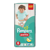 Pampers Pants Diaper Jumbo Pack Size 6 Extra Large 16+ kg 44 Diapers