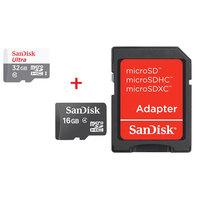 SanDisk Micro SDHC Ultra Class10 32GB + SanDisk Micro SD Class4 16GB + Adaptor