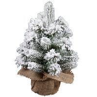 Christmas Tree - 30Cm Flocked Pvc Table Tree