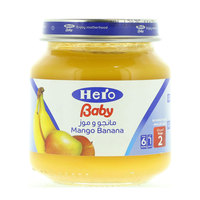 هيرو طعام أطفال مهروس مانجو وموز 130 جرام
