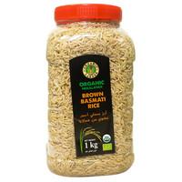 Organic Larder Organic Himalayan Brown Basmati Rice 1Kg