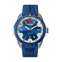 Reebok Men's Watch Impact Analog Blue Dial Blue Silicon Band 44.5mm  Case