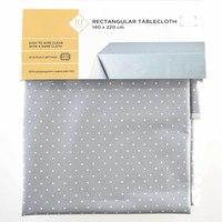 TEX Table Cloth 140x220 Grey