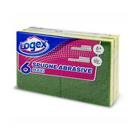 Logex Scouring Pads 9.5 X 13 X 3CM 6 Pieces