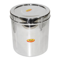 Raj Steel Rnd Storage Container 2L