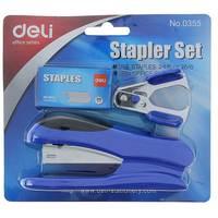 Deli Stapler 12 Set Asst Color