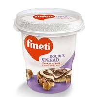 Fineti Double Spread Cocoa, hazelnuts & white milky cream 400 g