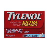 Tylenol Extra Strength Acetaminophen 50 Caplets