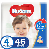 Huggies Baby Diapers Large Size 4 7-18kg 46 Counts