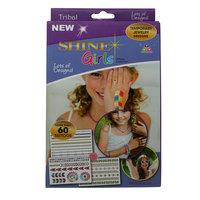 Shine Girls Temp Tribal Colored Tattoos