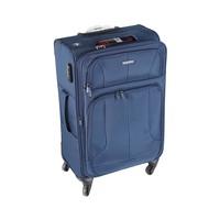 ترافل هاوس حقيبة سفر خامة ناعمة 4 عجلات مقاس 24 انش لون أزرق بحري