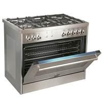 Bertazzoni 90x60 cm Full Gas Cooker PRO905GGVLXC with Fan
