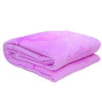 3D Super Soft Flannel Blanket Double Purple