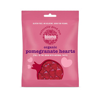 Biona Organic Pomegranate Heart Sweets 75GR
