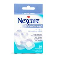 Nexcare Clear Waterproof 30 Assorted Bandages