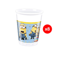 Despicable Me Lovely Minions Cups 8 Pieces