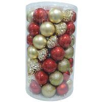 Balls Set 70Pcs 8Cm Red/Gold