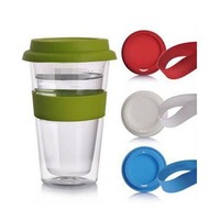 Glass Mug With Silicone Lid 500ml