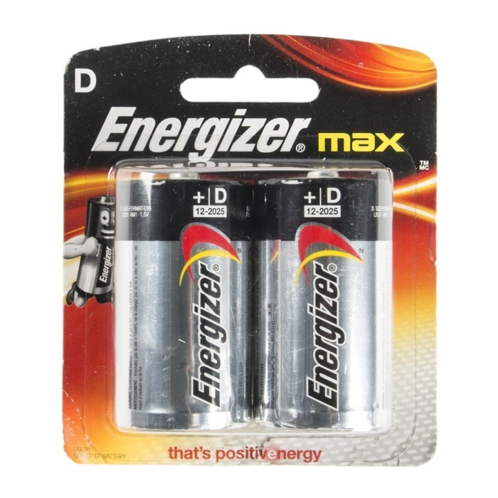ENERGIZER MAX BATTERY D SIZE 2PC