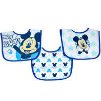 Mickey 3 Pack Cotton Bibs