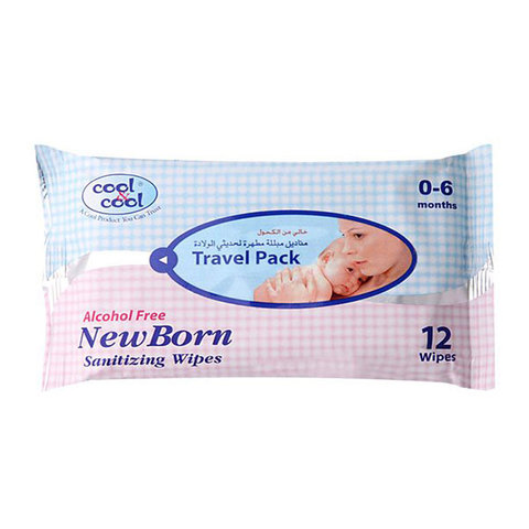 Cool-&-Cool-Travel-Pack-New-Born-Sanitizing-12-Wipes