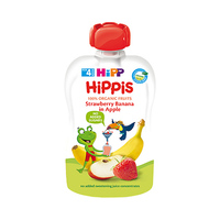 Hipp Hippis Strawberry Banana In Apple Pouch From 4 Months 100GR