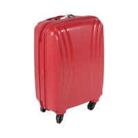 تراك هاي حقيبة سفر خامة صلبة 4 عجلات مقاس 19 انش لون أحمر