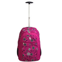 """Janboots Pink Floral Trolley 19"""""""